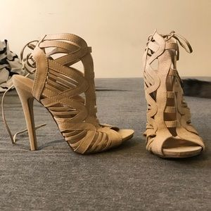 cutout stiletto heels